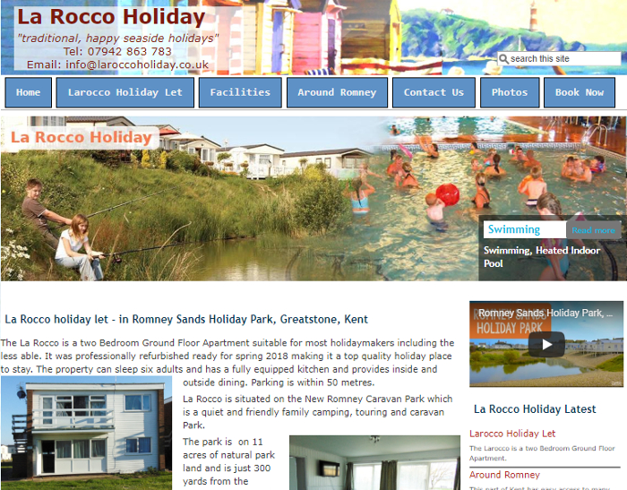 La Rocco Holiday Let - Romney Sands Park